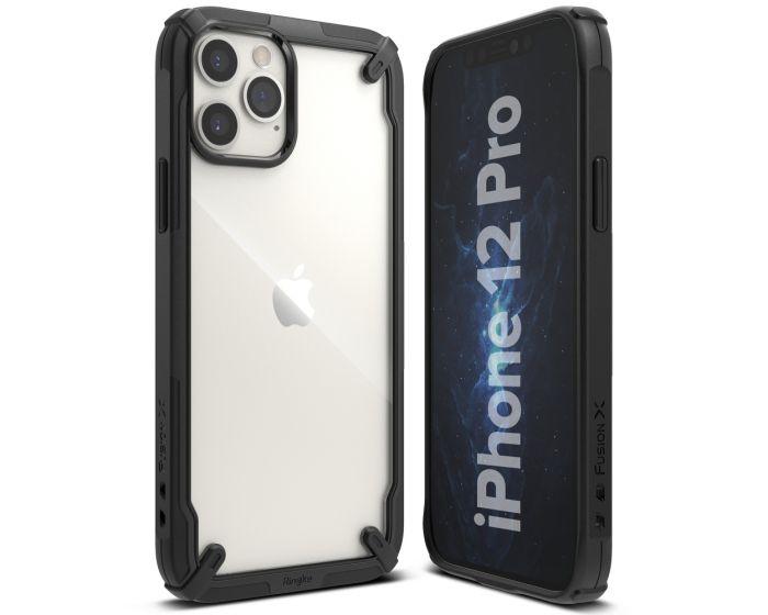 Ringke Fusion-X Σκληρή Θήκη με TPU Bumper Black (iPhone 12 / 12 Pro)
