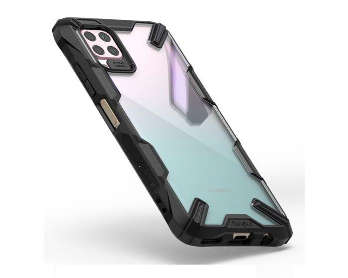 Ringke Fusion-X Σκληρή Θήκη με TPU Bumper Black (Huawei P40 Lite)