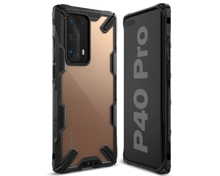 Ringke Fusion-X Σκληρή Θήκη με TPU Bumper Black (Huawei P40 Pro)