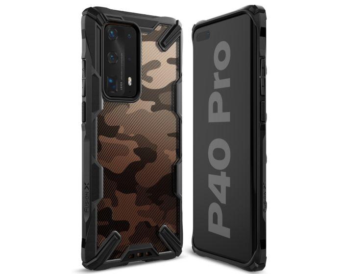 Ringke Fusion-X Σκληρή Θήκη με TPU Bumper Camo (Huawei P40 Pro)