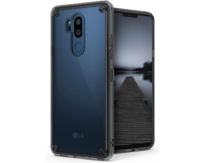 Ringke Fusion Σκληρή Θήκη με TPU Bumper Smoke Black (LG G7 ThinQ)