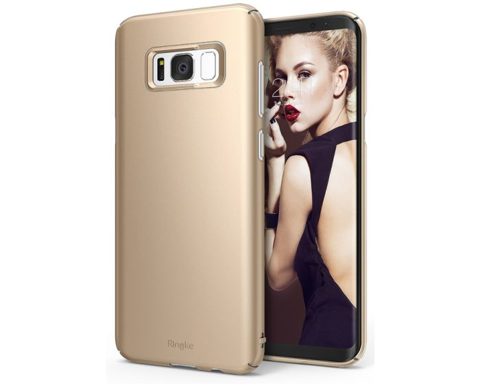 Ringke Slim Fit Σκληρή Θήκη (151527) Royal Gold (Samsung Galaxy S8 Plus)