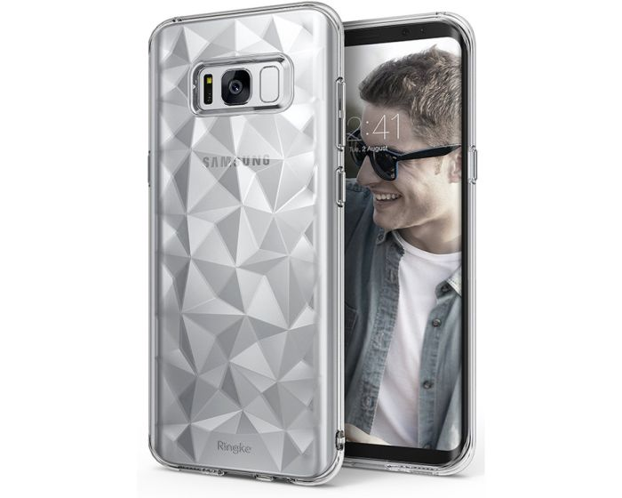Ringke Air Prism 3D Pattern Flexible Θήκη Σιλικόνης (151530) Clear (Samsung Galaxy S8 Plus)
