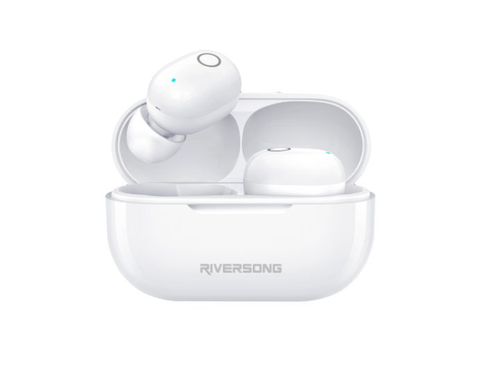 Riversong Air X19 TWS True Wireless Bluetooth Stereo Earbuds with Charging Box - White