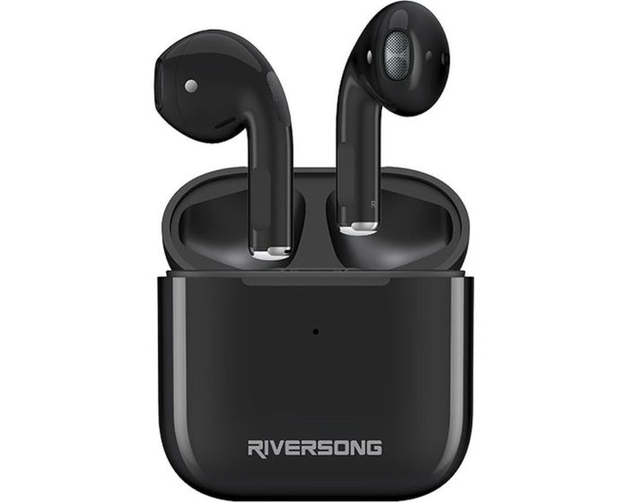 Riversong Air Mini TWS True Wireless Bluetooth Stereo Earbuds with Charging Box - Black