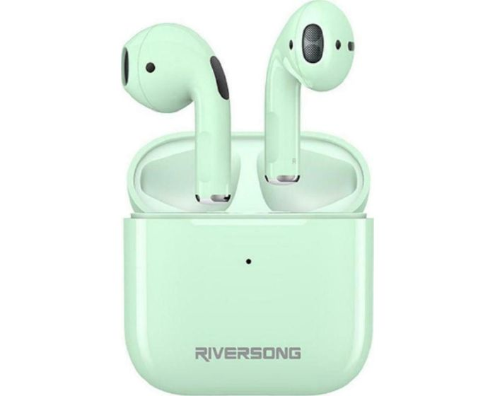 Riversong Air Mini TWS True Wireless Bluetooth Stereo Earbuds with Charging Box - Mint