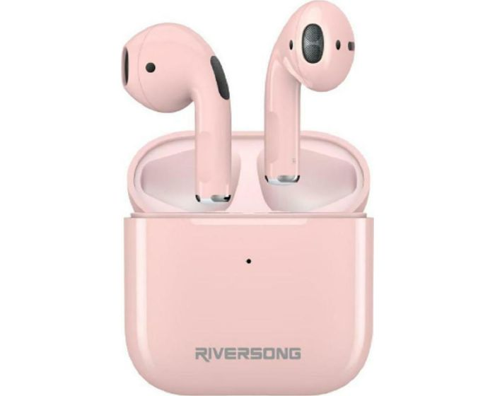 Riversong Air Mini TWS True Wireless Bluetooth Stereo Earbuds with Charging Box - Pink