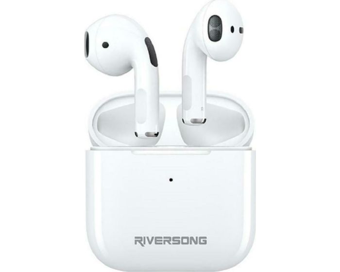 Riversong Air Mini TWS True Wireless Bluetooth Stereo Earbuds with Charging Box - White