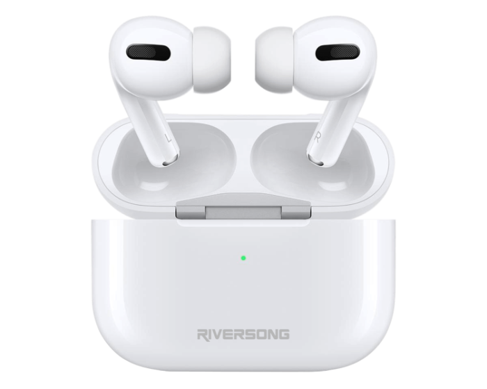 Riversong Air Pro TWS True Wireless Bluetooth Stereo Earphones with Charging Box - White