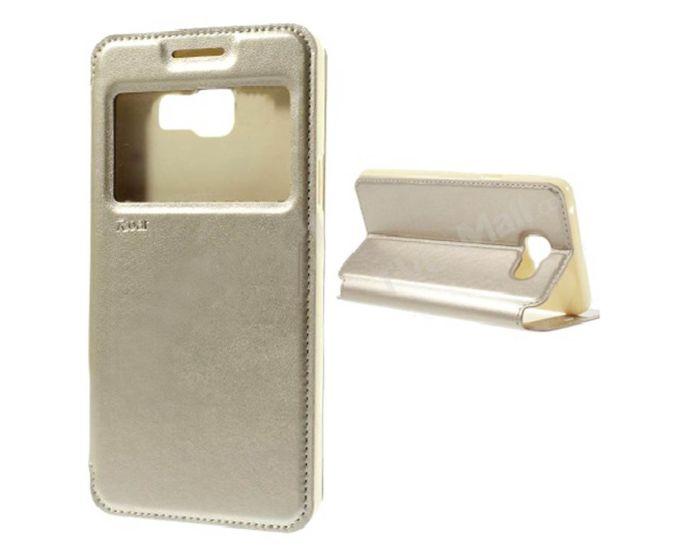 Roar Noble View Case Θήκη με Παράθυρο και δυνατότητα Stand Gold (LG K4)