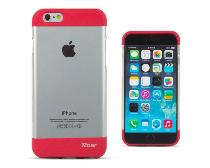 Roar Fit Up Silicone Case - Θήκη Σιλικόνης Red (iPhone 7 Plus)
