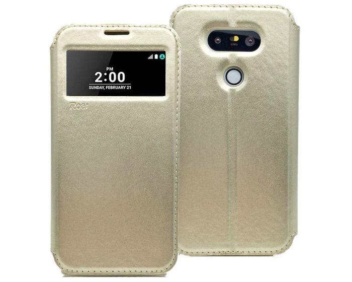 Roar Noble View Case Θήκη με Παράθυρο και δυνατότητα Stand Gold (LG G5)
