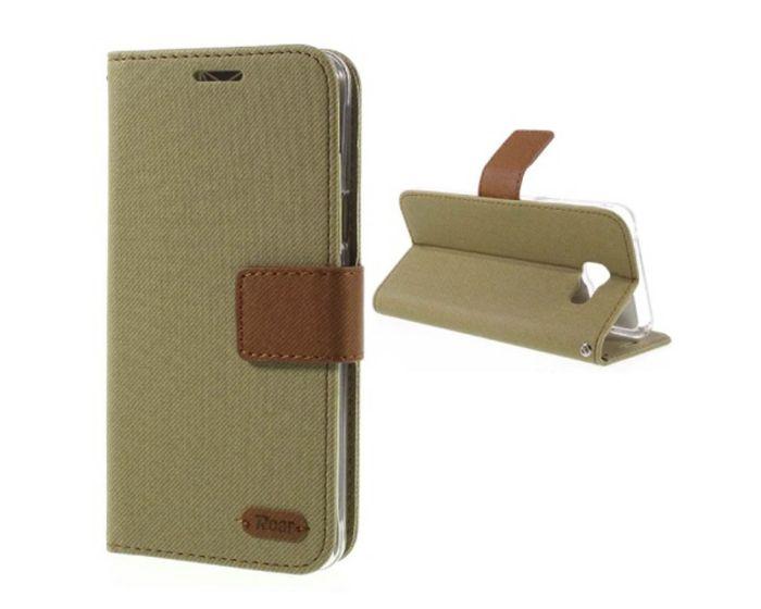 Roar Simply Life Diary Case Θήκη Πορτοφόλι με δυνατότητα Stand - Khaki (LG K4)