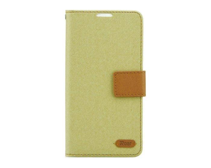 Roar Simply Life Diary Case Θήκη Πορτοφόλι με δυνατότητα Stand - Khaki (LG G5)