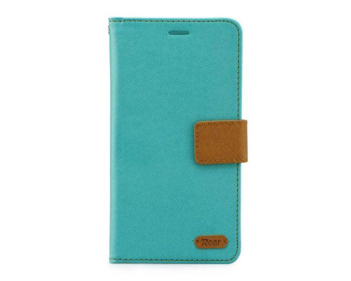 Roar Simply Life Diary Case Θήκη Πορτοφόλι με δυνατότητα Stand - Mint (LG G5)