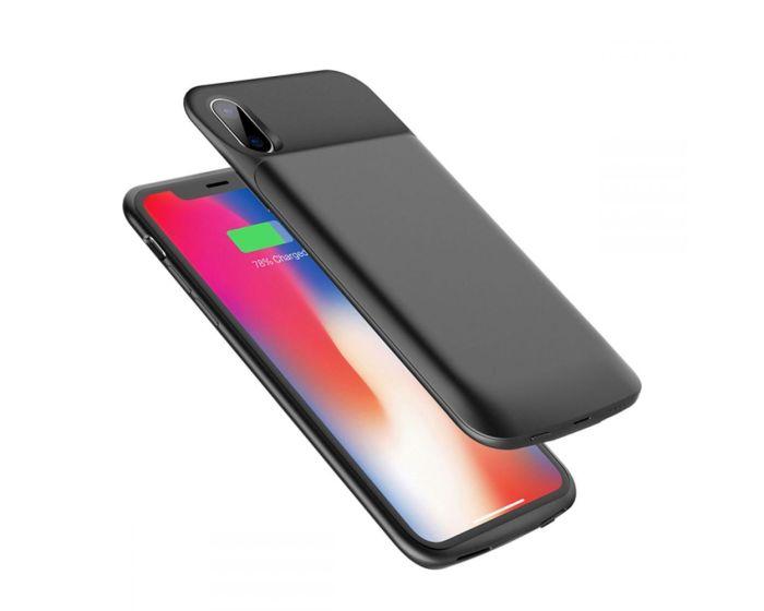 Rock P41 Power Battery Case Θήκη Μπαταρία 6000mAh Black (iPhone X)