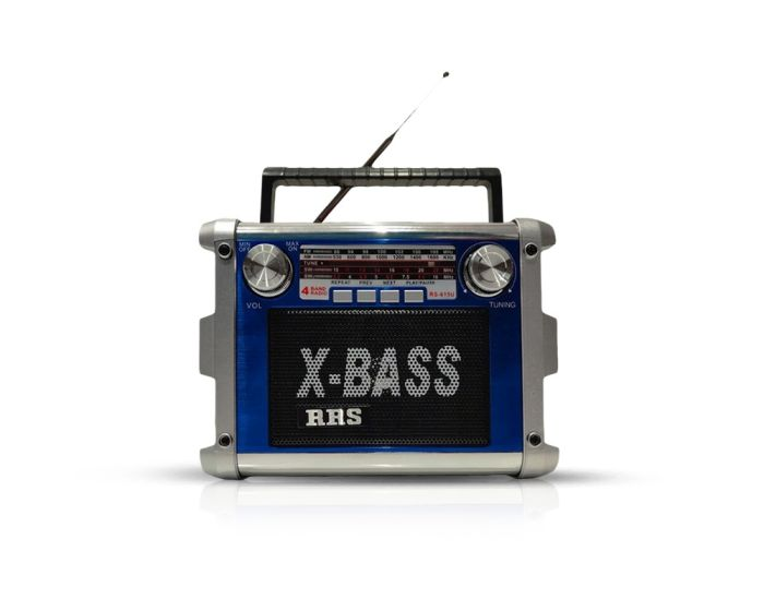 RRS Radio FM Bluetooth Speaker RS-615U Ασύρματο Ηχείο Blue