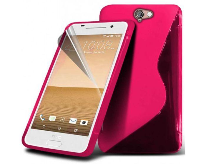 S-line Silicone Θήκη Σιλικόνης Φούξια + Μεμβράνη Οθόνης (HTC One A9)