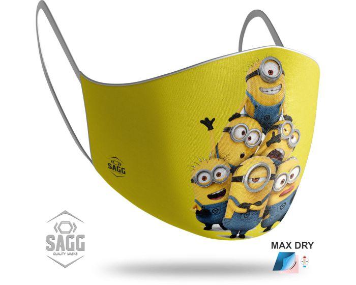 SAGG Face Mask for Kids Παιδική Προστατευτική Μάσκα Προσώπου - Minions 2