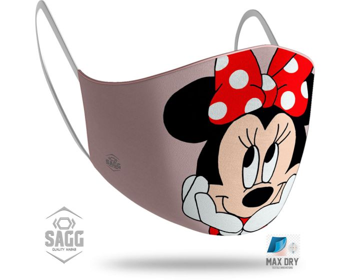 SAGG Face Mask for Kids Παιδική Προστατευτική Μάσκα Προσώπου - Minnie Mouse