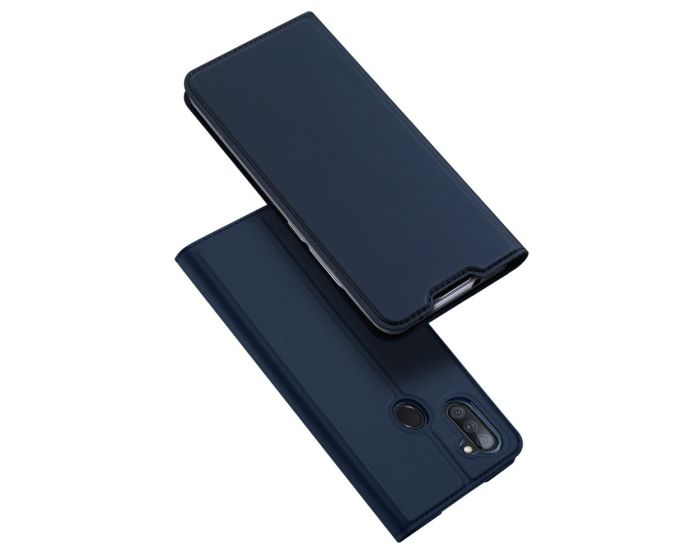 DUX DUCIS SkinPro Wallet Case Θήκη Πορτοφόλι με Stand - Blue (Samsung Galaxy A11)