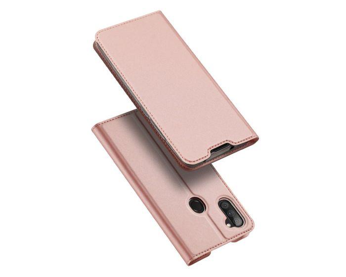 DUX DUCIS SkinPro Wallet Case Θήκη Πορτοφόλι με Stand - Rose Gold (Samsung Galaxy A11)