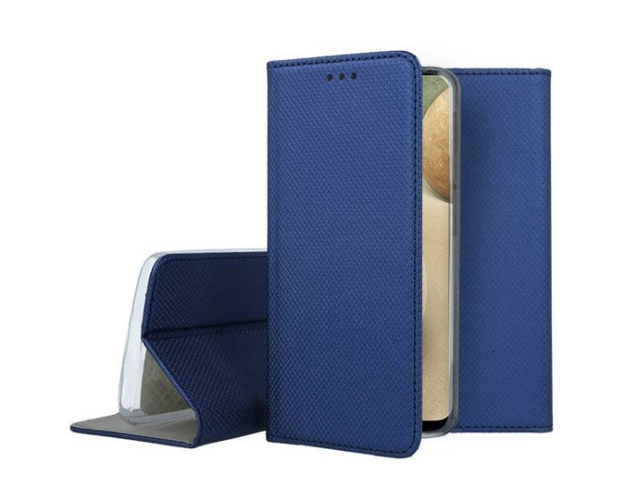 Forcell Smart Book Case με Δυνατότητα Stand Θήκη Πορτοφόλι Navy Blue (Huawei P Smart 2021)