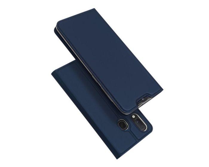 DUX DUCIS SkinPro Wallet Case Θήκη Πορτοφόλι με Stand - Navy Blue (Samsung Galaxy A20e)