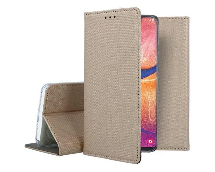 Forcell Smart Book Case με Δυνατότητα Stand Θήκη Πορτοφόλι Gold (Samsung Galaxy A20e)