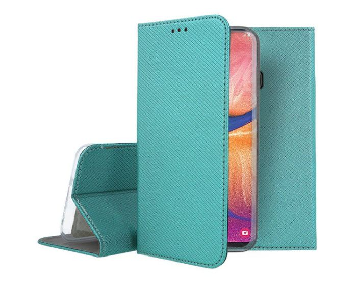 Forcell Smart Book Case με Δυνατότητα Stand Θήκη Πορτοφόλι Turquoise (Samsung Galaxy A20e)
