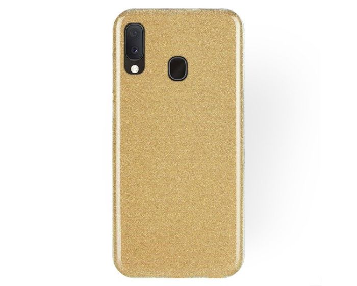 Forcell Glitter Shine Cover Hard Case Gold (Samsung Galaxy A20e)