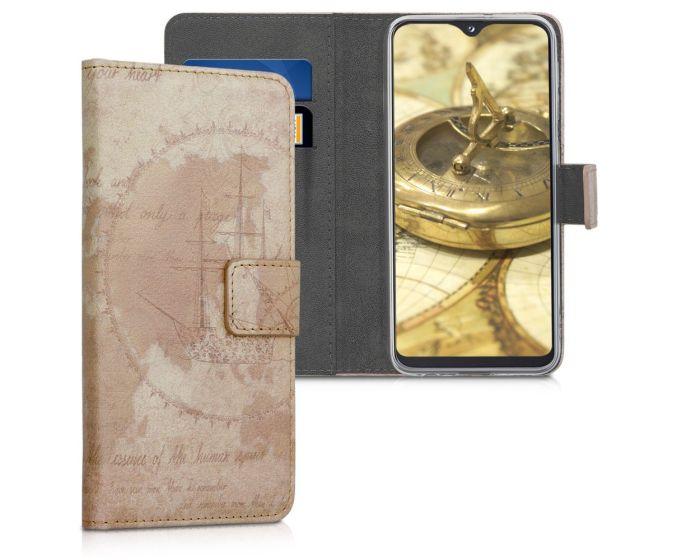 KWmobile Θήκη Πορτοφόλι Wallet Case (48742.04) Vintage World Map (Samsung Galaxy A20e)