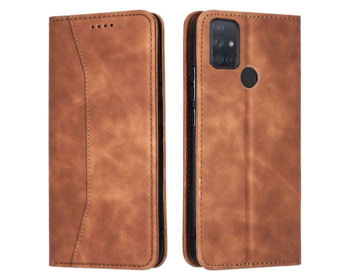 Bodycell PU Leather Book Case Θήκη Πορτοφόλι με Stand - Brown (Samsung Galaxy A21s)