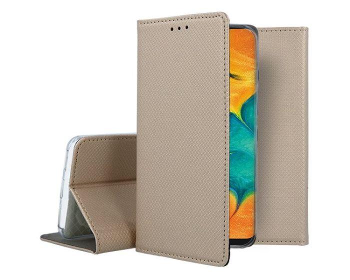 Forcell Smart Book Case με Δυνατότητα Stand Θήκη Πορτοφόλι Gold (Samsung Galaxy A20 / A30)