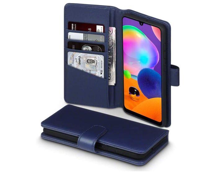Terrapin Δερμάτινη Θήκη Πορτοφόλι Wallet Case (117-002a-311) Μπλε (Samsung Galaxy A31)