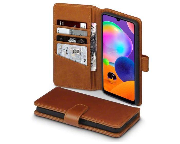 Terrapin Δερμάτινη Θήκη Πορτοφόλι Wallet Case (117-002a-308) Καφέ (Samsung Galaxy A31)
