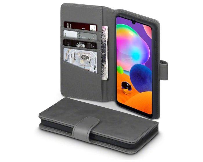Terrapin Δερμάτινη Θήκη Πορτοφόλι Wallet Case (117-002a-309) Γκρι (Samsung Galaxy A31)