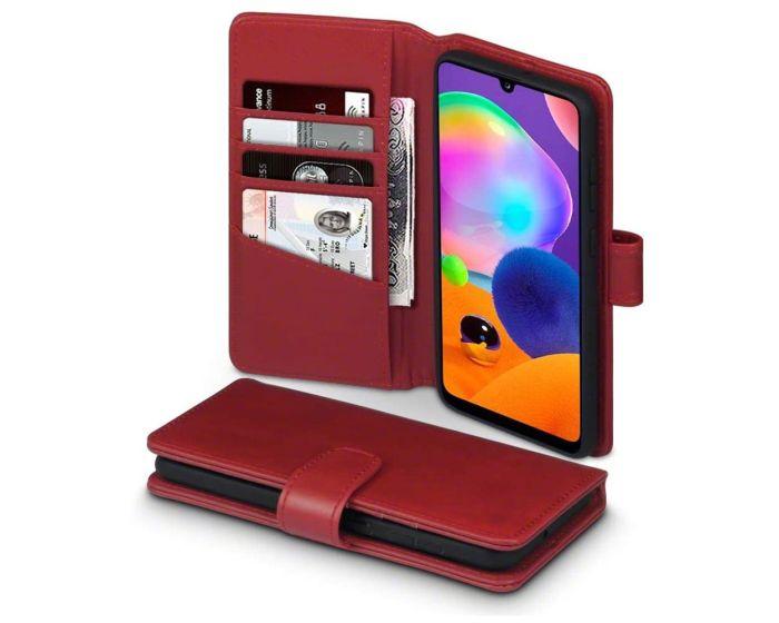 Terrapin Δερμάτινη Θήκη Πορτοφόλι Wallet Case (117-002a-310) Κόκκινο (Samsung Galaxy A31)