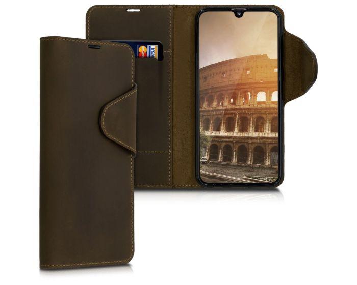 Kalibri Leather Wallet Case Δερμάτινη Θήκη Πορτοφόλι (48667.05) Καφέ (Samsung Galaxy A40)