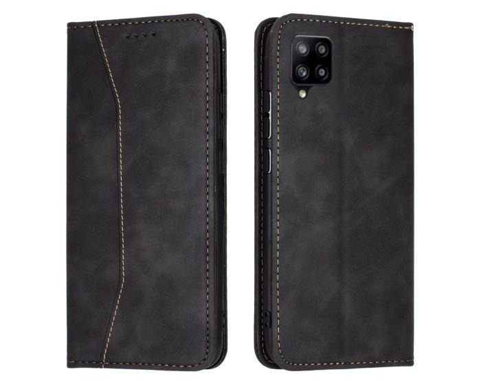 Bodycell PU Leather Book Case Θήκη Πορτοφόλι με Stand - Black (Samsung Galaxy A42 5G)