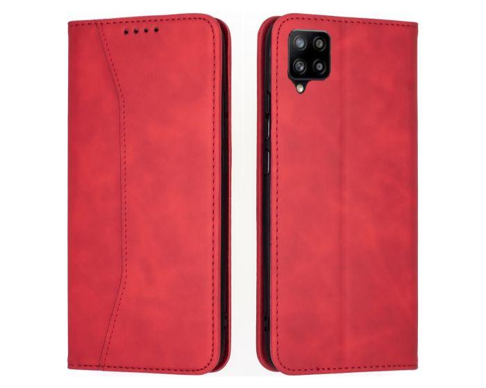 Bodycell PU Leather Book Case Θήκη Πορτοφόλι με Stand - Red (Samsung Galaxy A42 5G)