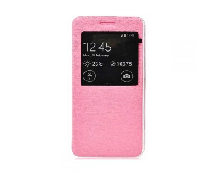 Forcell S View Flexi Flip Case - Pink (Samsung Galaxy A5 2016)
