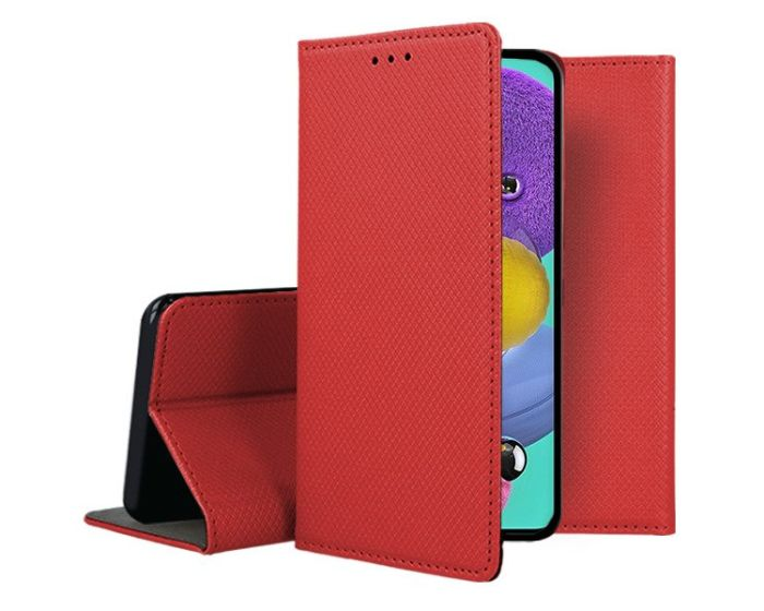 Forcell Smart Book Case με Δυνατότητα Stand Θήκη Πορτοφόλι Red (Samsung Galaxy A51)