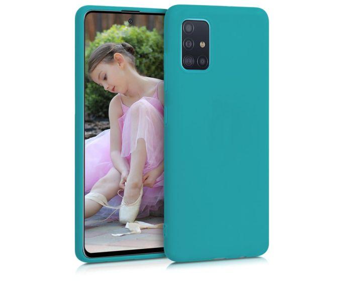 KWmobile TPU Silicone Case (51196.57) Teal Matte (Samsung Galaxy A51)