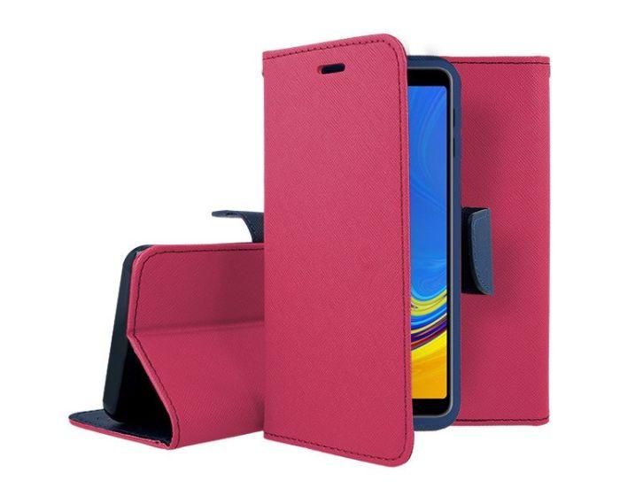 Mercury Fancy Diary Case Θήκη Πορτοφόλι με δυνατότητα Stand Pink / Navy (Samsung Galaxy A7)