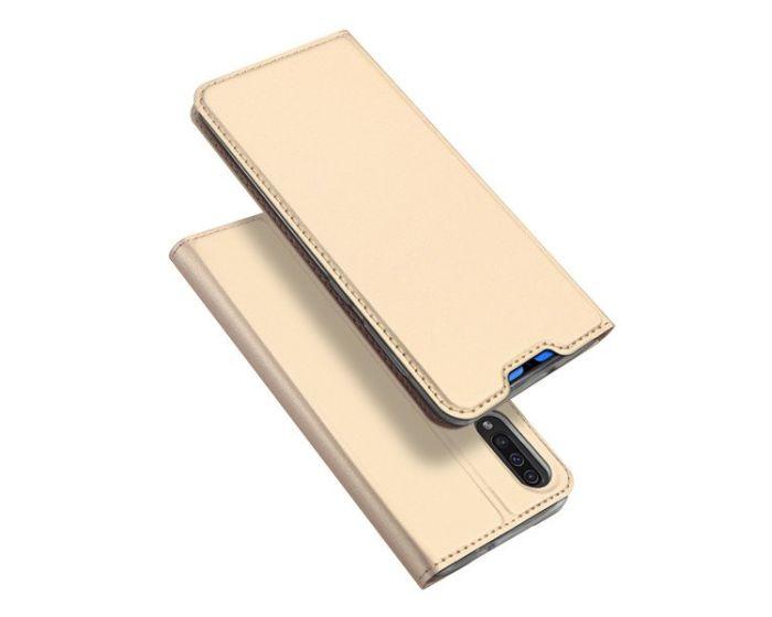 DUX DUCIS SkinPro Wallet Case Θήκη Πορτοφόλι με Stand - Gold (Samsung Galaxy A70)