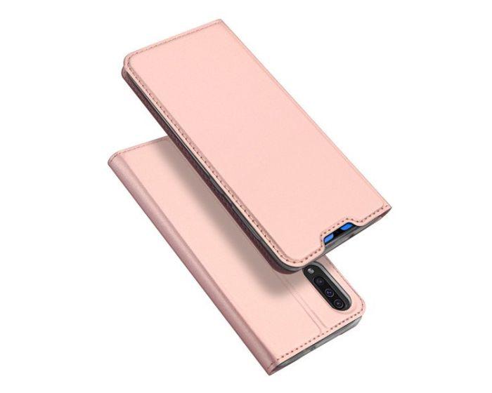 DUX DUCIS SkinPro Wallet Case Θήκη Πορτοφόλι με Stand - Rose Gold (Samsung Galaxy A70)