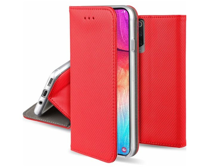 Forcell Smart Book Case με Δυνατότητα Stand Θήκη Πορτοφόλι Red (Samsung Galaxy A70)