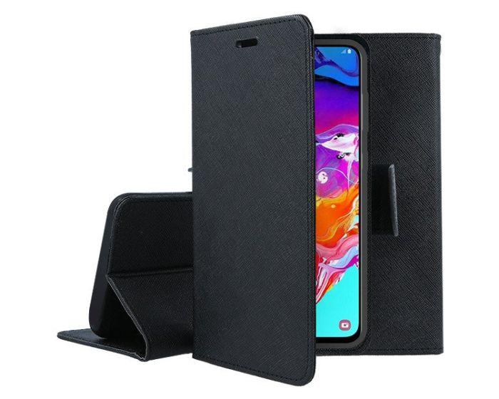 Tel1 Fancy Diary Case Θήκη Πορτοφόλι με δυνατότητα Stand Black (Samsung Galaxy A70)