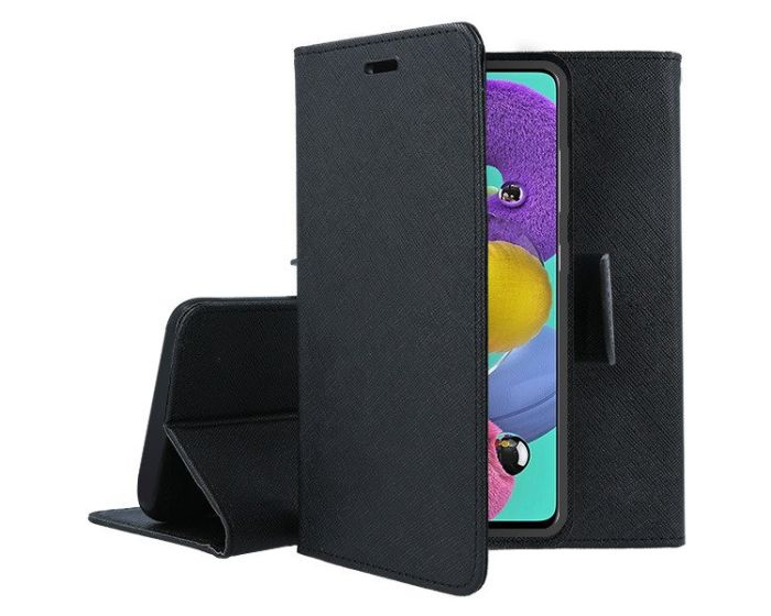 Tel1 Fancy Diary Case Θήκη Πορτοφόλι με δυνατότητα Stand Black (Samsung Galaxy A71 5G)